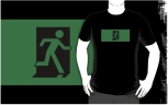 Running Man Fire Safety Exit Sign Emergency Evacuation Adult T-Shirt 69