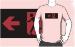 Running Man Fire Safety Exit Sign Emergency Evacuation Adult T-Shirt 7