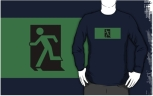 Running Man Fire Safety Exit Sign Emergency Evacuation Adult T-Shirt 71