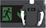Running Man Fire Safety Exit Sign Emergency Evacuation Adult T-Shirt 74