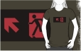 Running Man Fire Safety Exit Sign Emergency Evacuation Adult T-Shirt 8