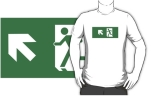 Running Man Fire Safety Exit Sign Emergency Evacuation Adult T-Shirt 84