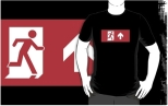 Running Man Fire Safety Exit Sign Emergency Evacuation Adult T-Shirt 95