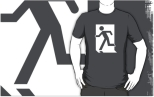 Running Man Fire Safety Exit Sign Emergency Evacuation Adult T-Shirt 97