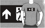 Running Man Fire Safety Exit Sign Emergency Evacuation Adult T-Shirt 99