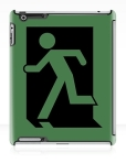 Running Man Fire Safety Exit Sign Emergency Evacuation Apple iPad Tablet Case 1