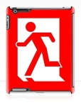Running Man Fire Safety Exit Sign Emergency Evacuation Apple iPad Tablet Case 10