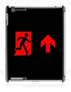 Running Man Fire Safety Exit Sign Emergency Evacuation Apple iPad Tablet Case 100