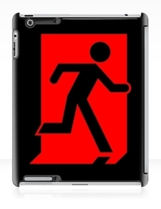 Running Man Fire Safety Exit Sign Emergency Evacuation Apple iPad Tablet Case 101