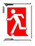 Running Man Fire Safety Exit Sign Emergency Evacuation Apple iPad Tablet Case 102