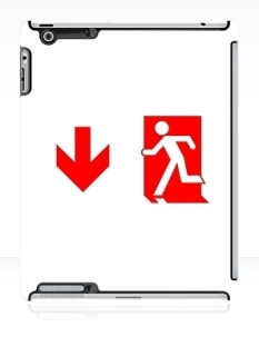 Running Man Fire Safety Exit Sign Emergency Evacuation Apple iPad Tablet Case 103