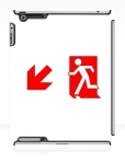 Running Man Fire Safety Exit Sign Emergency Evacuation Apple iPad Tablet Case 104