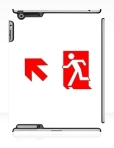 Running Man Fire Safety Exit Sign Emergency Evacuation Apple iPad Tablet Case 105