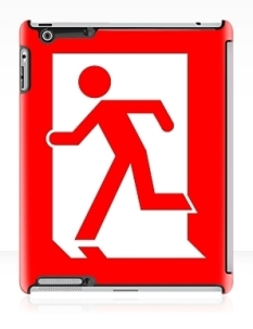 Running Man Fire Safety Exit Sign Emergency Evacuation Apple iPad Tablet Case 106