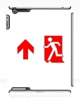 Running Man Fire Safety Exit Sign Emergency Evacuation Apple iPad Tablet Case 108