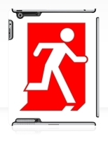 Running Man Fire Safety Exit Sign Emergency Evacuation Apple iPad Tablet Case 109