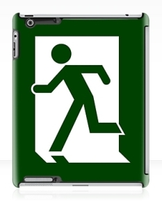 Running Man Fire Safety Exit Sign Emergency Evacuation Apple iPad Tablet Case 11