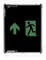Running Man Fire Safety Exit Sign Emergency Evacuation Apple iPad Tablet Case 110