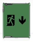 Running Man Fire Safety Exit Sign Emergency Evacuation Apple iPad Tablet Case 111