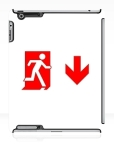 Running Man Fire Safety Exit Sign Emergency Evacuation Apple iPad Tablet Case 112