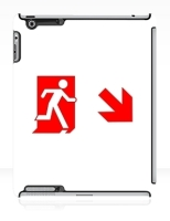 Running Man Fire Safety Exit Sign Emergency Evacuation Apple iPad Tablet Case 113