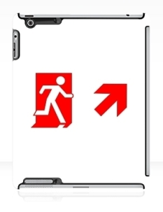 Running Man Fire Safety Exit Sign Emergency Evacuation Apple iPad Tablet Case 114