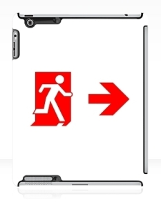 Running Man Fire Safety Exit Sign Emergency Evacuation Apple iPad Tablet Case 115