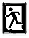 Running Man Fire Safety Exit Sign Emergency Evacuation Apple iPad Tablet Case 117