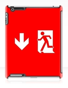 Running Man Fire Safety Exit Sign Emergency Evacuation Apple iPad Tablet Case 118
