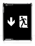 Running Man Fire Safety Exit Sign Emergency Evacuation Apple iPad Tablet Case 119