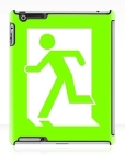 Running Man Fire Safety Exit Sign Emergency Evacuation Apple iPad Tablet Case 12