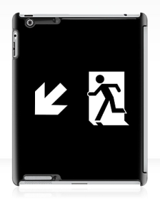 Running Man Fire Safety Exit Sign Emergency Evacuation Apple iPad Tablet Case 120