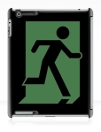 Running Man Fire Safety Exit Sign Emergency Evacuation Apple iPad Tablet Case 121