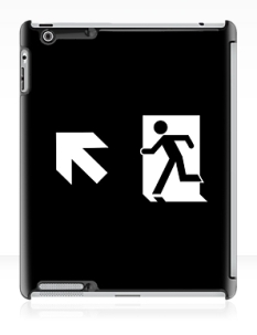 Running Man Fire Safety Exit Sign Emergency Evacuation Apple iPad Tablet Case 122