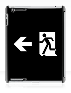 Running Man Fire Safety Exit Sign Emergency Evacuation Apple iPad Tablet Case 123