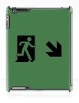 Running Man Fire Safety Exit Sign Emergency Evacuation Apple iPad Tablet Case 124