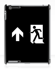 Running Man Fire Safety Exit Sign Emergency Evacuation Apple iPad Tablet Case 125