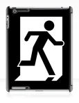 Running Man Fire Safety Exit Sign Emergency Evacuation Apple iPad Tablet Case 126