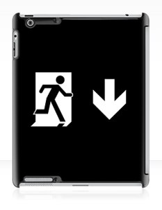 Running Man Fire Safety Exit Sign Emergency Evacuation Apple iPad Tablet Case 127