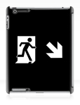 Running Man Fire Safety Exit Sign Emergency Evacuation Apple iPad Tablet Case 128