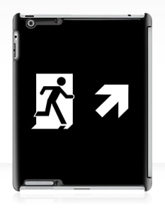 Running Man Fire Safety Exit Sign Emergency Evacuation Apple iPad Tablet Case 129