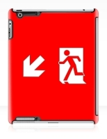 Running Man Fire Safety Exit Sign Emergency Evacuation Apple iPad Tablet Case 130