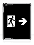 Running Man Fire Safety Exit Sign Emergency Evacuation Apple iPad Tablet Case 131