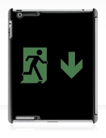 Running Man Fire Safety Exit Sign Emergency Evacuation Apple iPad Tablet Case 132