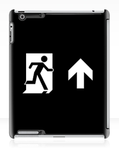 Running Man Fire Safety Exit Sign Emergency Evacuation Apple iPad Tablet Case 133