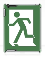 Running Man Fire Safety Exit Sign Emergency Evacuation Apple iPad Tablet Case 134