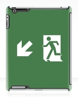 Running Man Fire Safety Exit Sign Emergency Evacuation Apple iPad Tablet Case 136