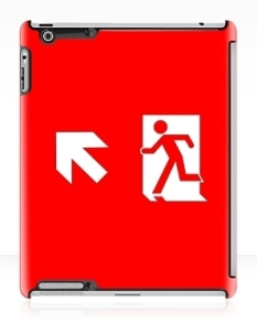 Running Man Fire Safety Exit Sign Emergency Evacuation Apple iPad Tablet Case 137