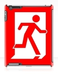Running Man Fire Safety Exit Sign Emergency Evacuation Apple iPad Tablet Case 141