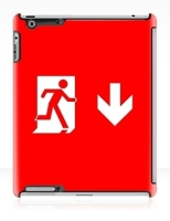 Running Man Fire Safety Exit Sign Emergency Evacuation Apple iPad Tablet Case 142